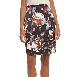 THEORY FLORAL SKIRT